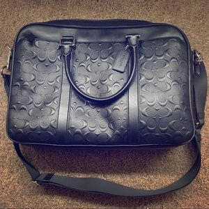 COACH PERRY SLIM BRIEF IN SIG CROSSGRAIN LEATHER